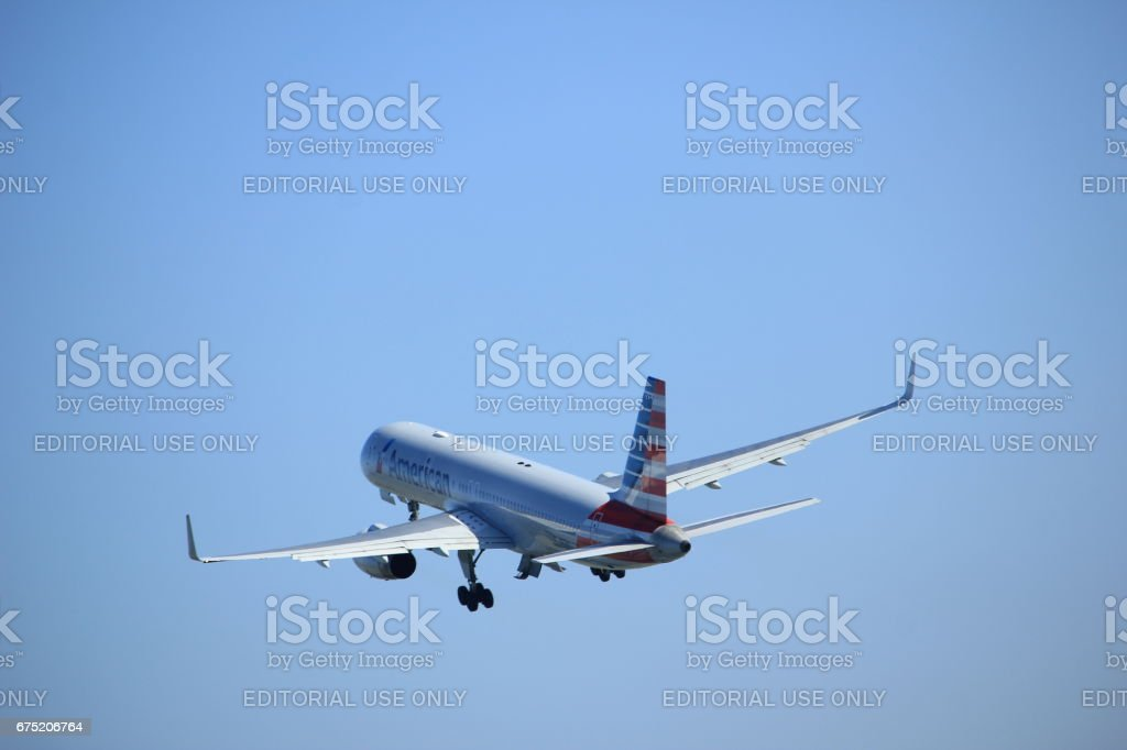 Amsterdam the Netherlands - April 2nd, 2017: N177AN American Airlines stock photo