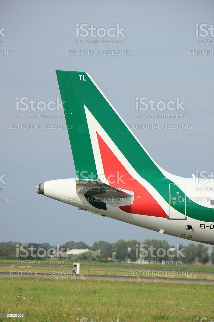 Amsterdam, Paesi Bassi - 10 agosto 2015: EI-DTL Alitalia aria - foto stock