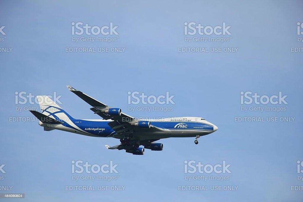 Amsterdam, The Netherlands-el 10 de agosto de 2015: AirBridgeCar VP-BIM - foto de stock