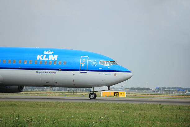 amsterdam, the netherlands - august, 10th 2015: ph-bxk klm royal - aviation and environment summit stock photos and pictures