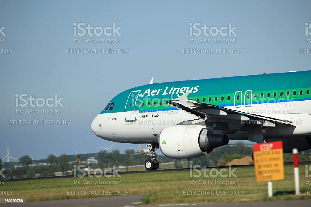 Amsterdam, the Netherlands - August, 18th 2016: EI-DEN Aer Lingus stock photo