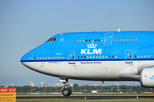 amsterdam, the netherlands - august, 18th 2016: ph-bfu klm - aviation and environment summit stock photos and pictures