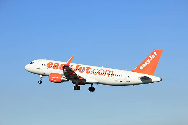 amsterdam, the netherlands - august, 18th 2016:g-ezwt easyjet - aviation and environment summit stock photos and pictures