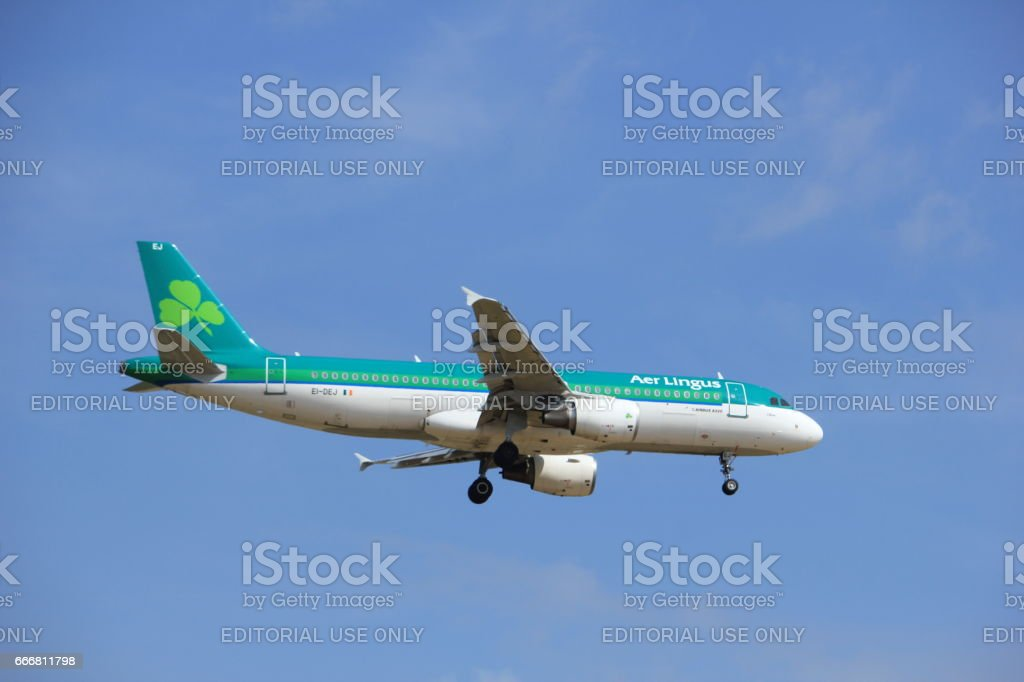 Amsterdam, the Netherlands, July, 21st 2016: EI-DEJ Aer Lingus Airbus stock photo