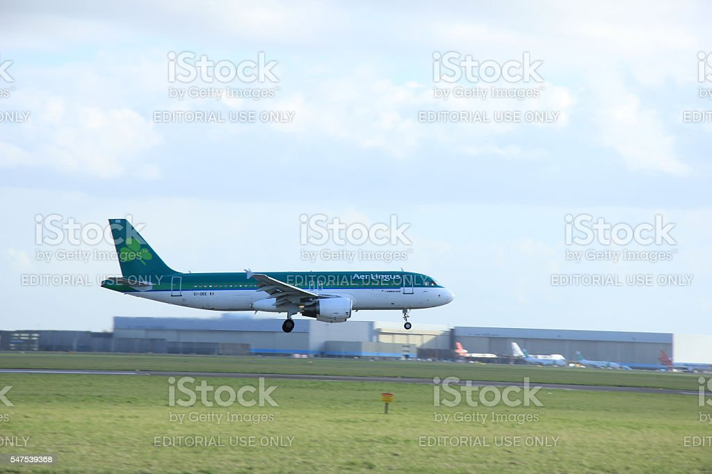 Amsterdam, The Netherlands, march 31, 2015:  EI-DEE Aer Lingus A stock photo