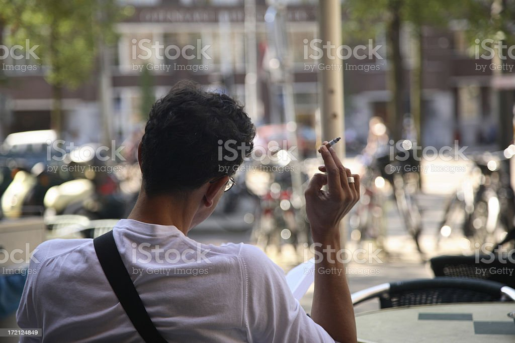 Amsterdam: The Smoker stock photo
