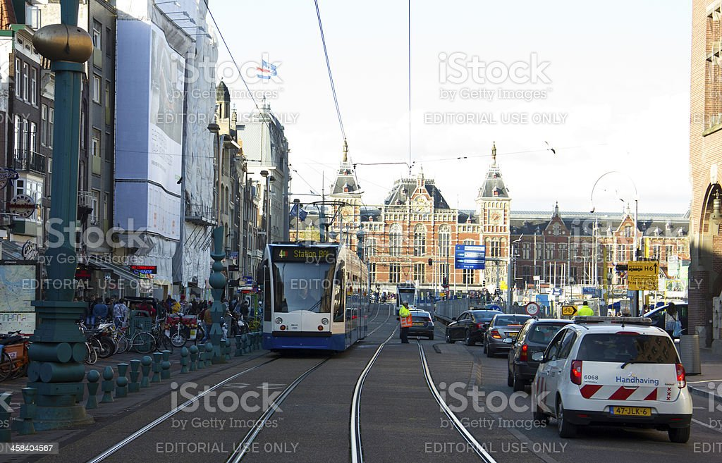 Amsterdam tram royalty-free stock photo