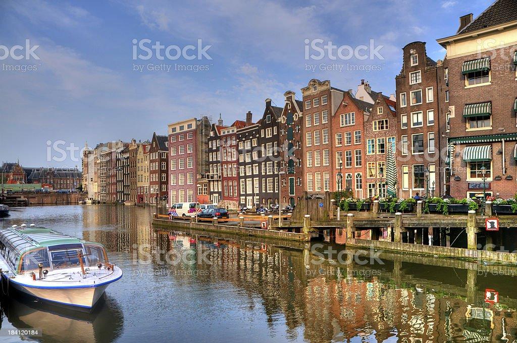 Amsterdam Twilight Scene royalty-free stock photo