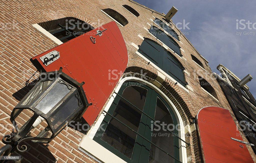 Amsterdam Warehouse Apartments royalty-free stock photo