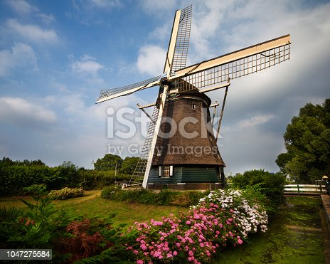 A windmill in the outskirts of the Amsterdam in Holland.