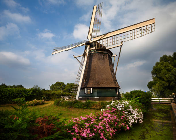 Amsterdam Windmill, Netherlands stock photo