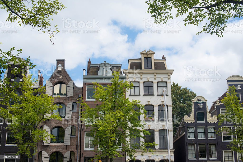 Amsterdam's Canal Houses royalty-free stock photo