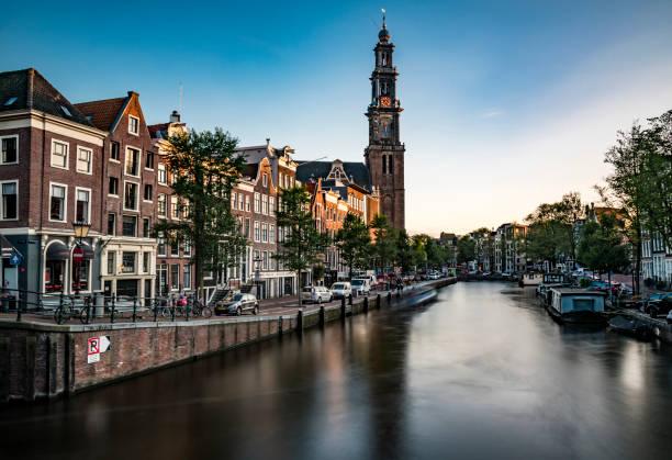 amsterdam-westerkerk-kerk - westerkerk stockfoto's en -beelden