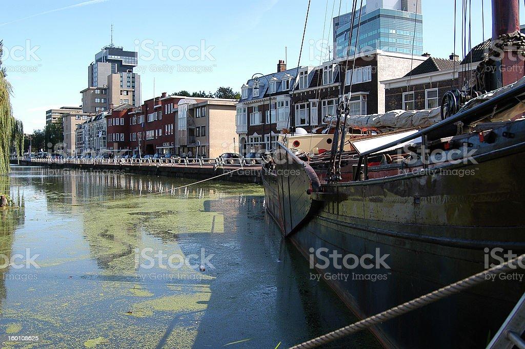 Canal de Amsterdan - foto de acervo