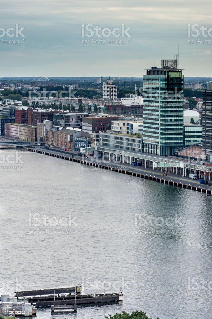 Skyline da cidade de Amsterdan - foto de acervo