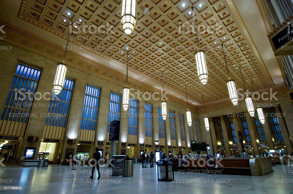 Amtrak 30th Street Station in Philadelphia, PA stock photo