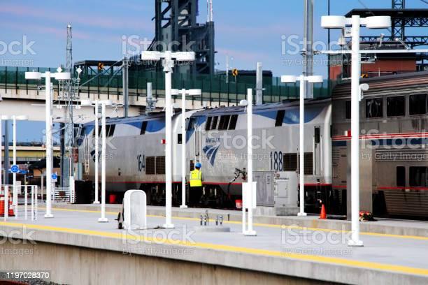 Amtrak California Zephyr train refuel at Denver Union Station Transit Center