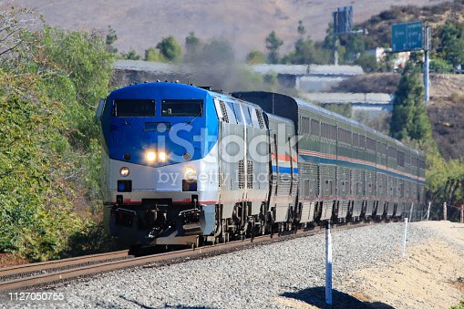 2018.11.23 Amtrak Coast Starlight (Los Angeles - Seattle) made a technical stop at Moorpark Station, which is not a scheduled stop for Amtrak Coast Starlight and no passenger get on/off. The Amtrak Coast Starlight, composed of the standard coach, business, sleeping, and observation cars, makes a total of 1377 miles travel between Los Angeles, CA and Seattle, WA.