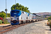 istock Amtrak Coast Starlight (Los Angeles - Seattle) train at Moorpark, California 1179447092