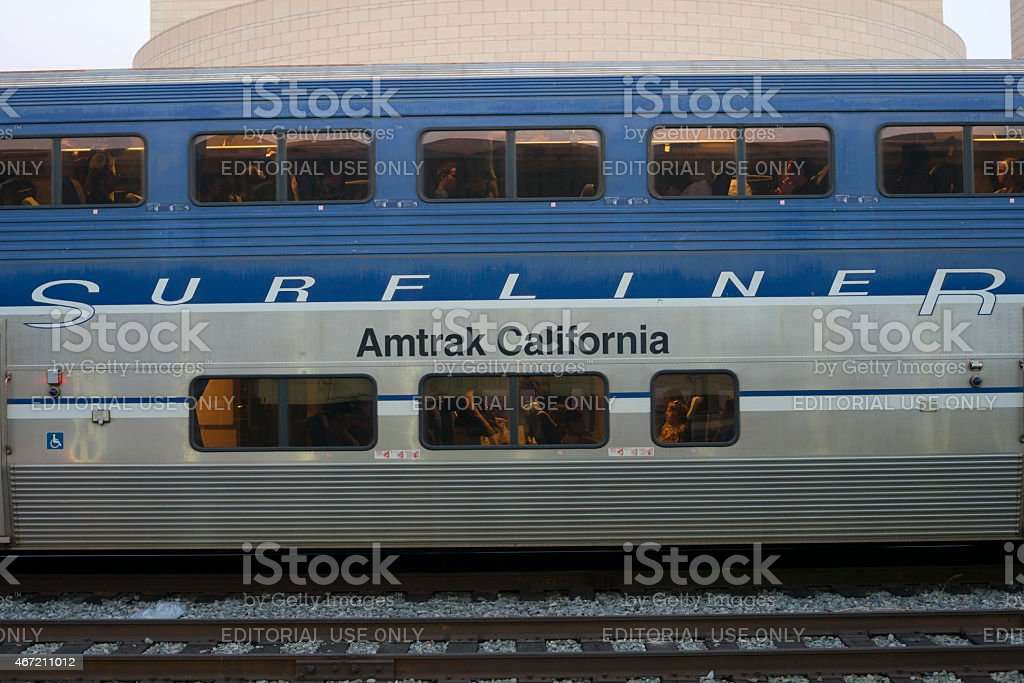 Amtrak's Pacfic Surfliner at Los Angeles Union Station stock photo