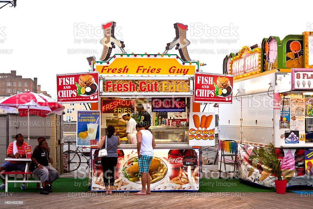 Amuesment Park at Steel Pier Atlantic City, NJ stock photo
