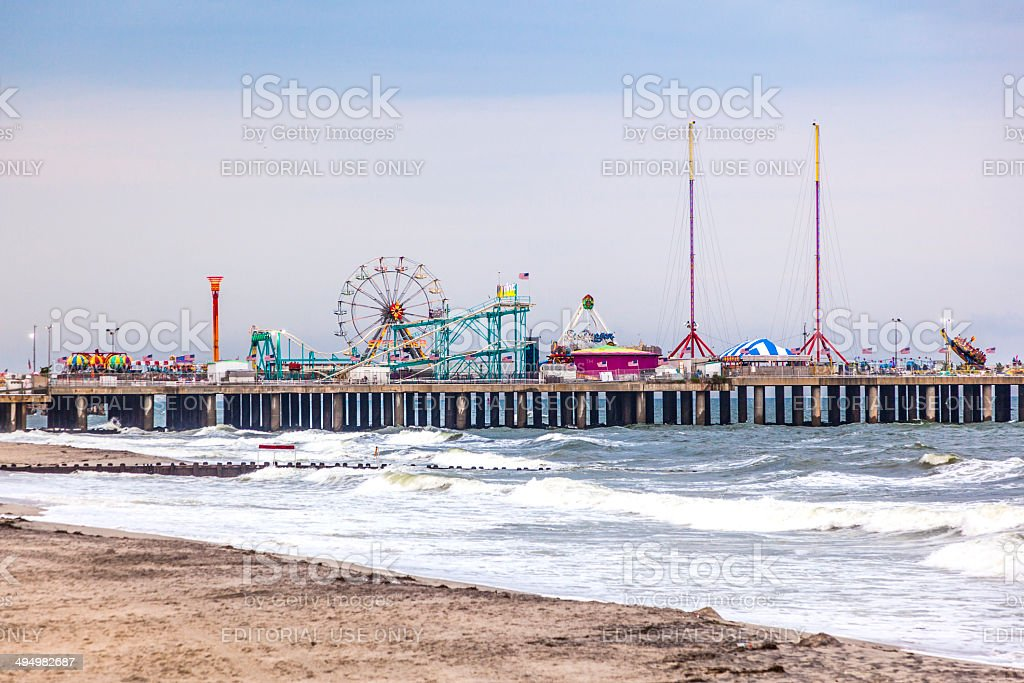 Amuesment Park at Steel Pier Atlantic City, NJ stock photo