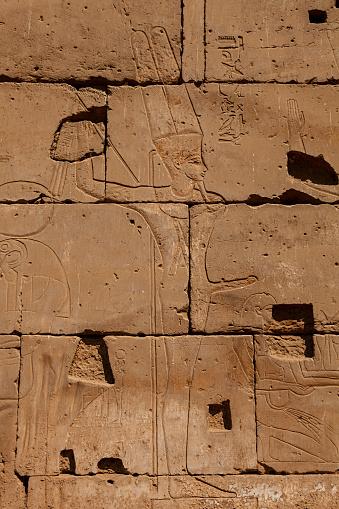 Amun-Min - The God of Fertility in  Luxor temple, Luxor city.