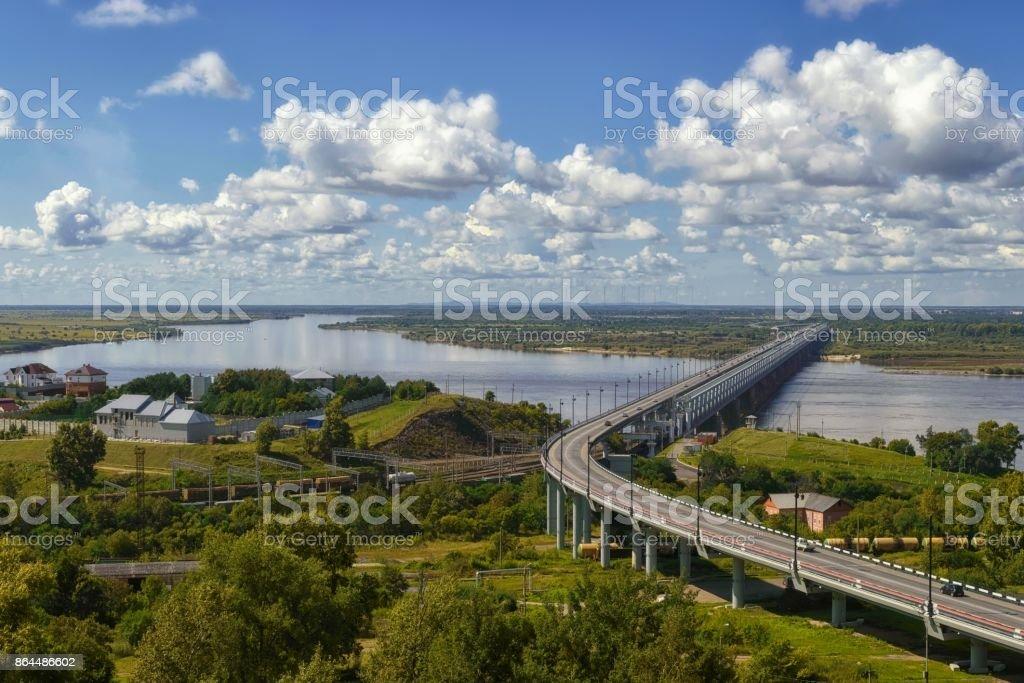 Amur Brücke. Chabarowsk, Fernost, Russland. – Foto