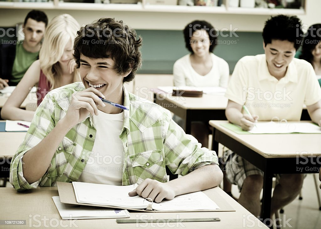 Amused High School Students royalty-free stock photo