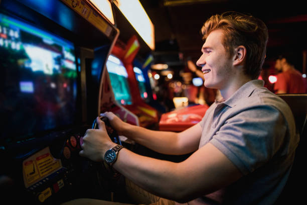 Amusement Arcade Gaming stock photo