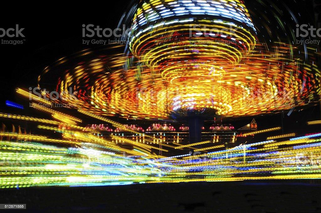 amusement park colourful stock photo