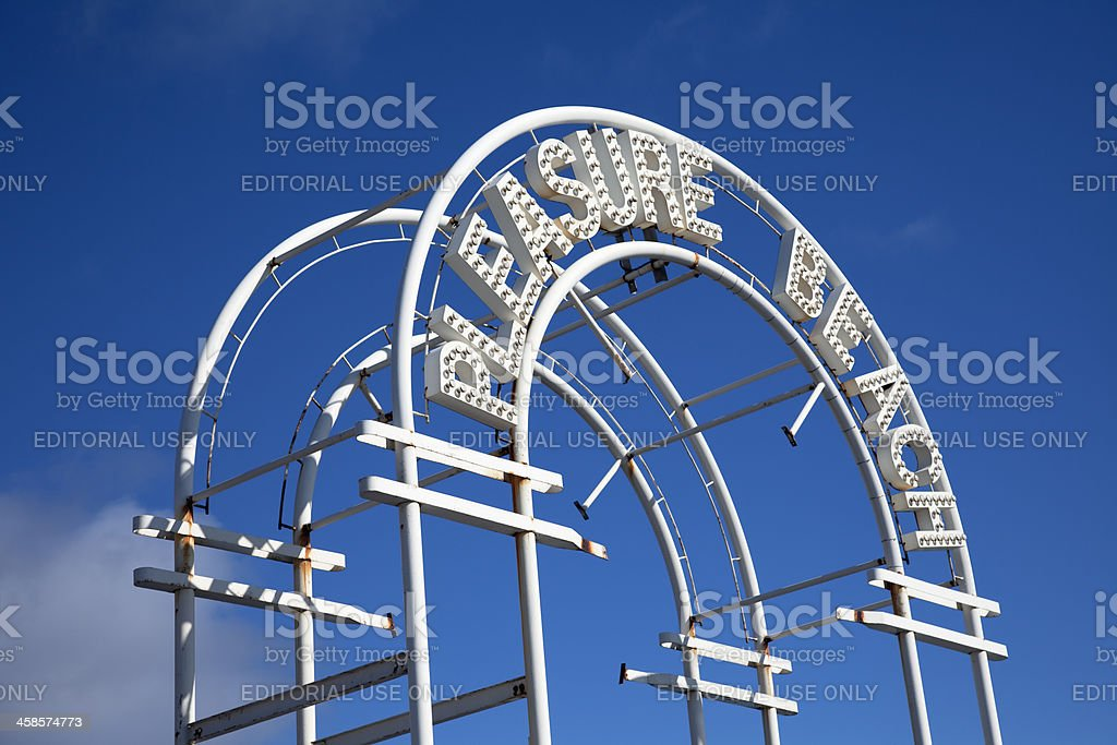 Amusement Park entrance, Pleasure Beach stock photo