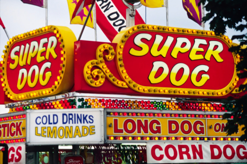 Amusement Park Food Signs