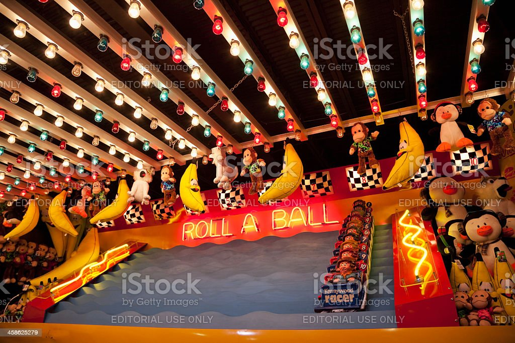 Amusement park game booth stock photo