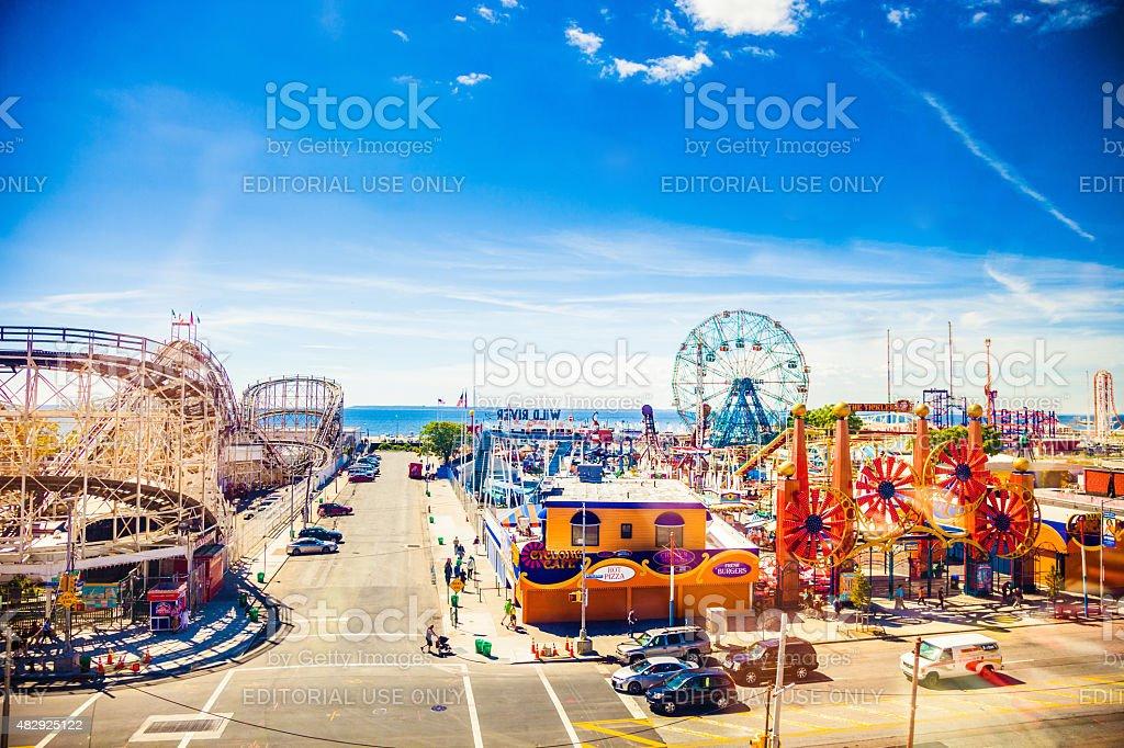 Amusement Park in Coney Island - NY stock photo