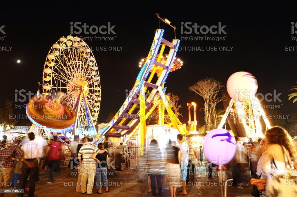 Amusement park in Izmir royalty-free stock photo