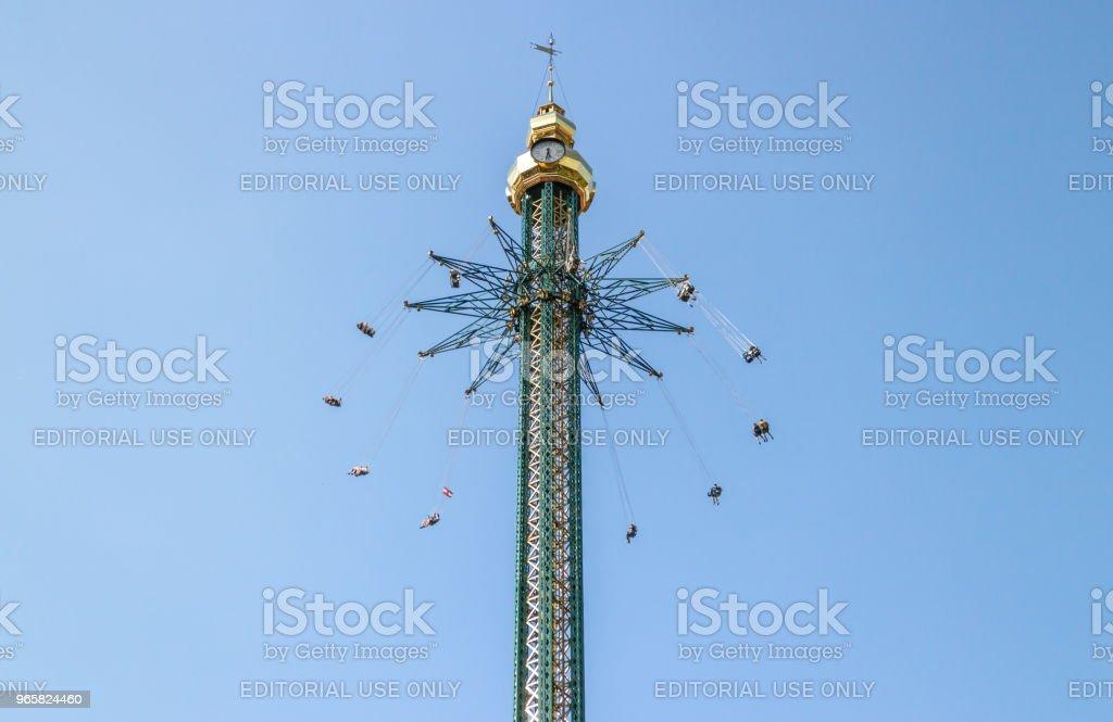Nöjesparken i Wien - Royaltyfri Aktivitet Bildbanksbilder