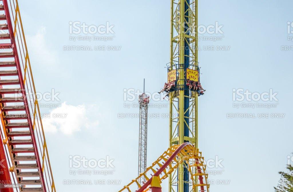 Pretpark in Wenen - Royalty-free Adrenaline Stockfoto