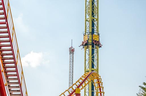 Pretpark In Wenen Stockfoto en meer beelden van Adrenaline
