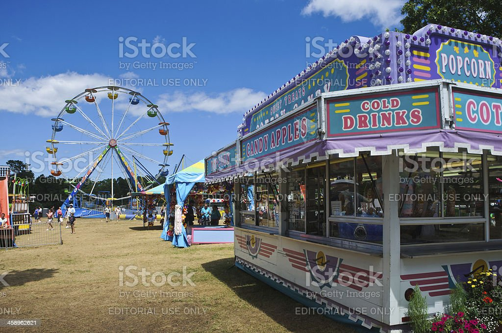 Amusement Park Midway stock photo