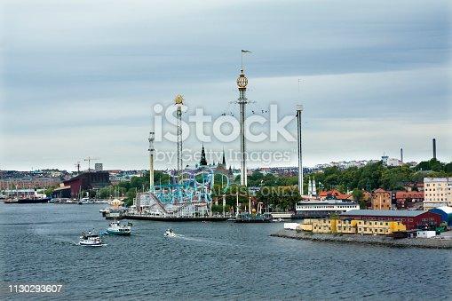 istock Amusement park of Grona Lund on Djurgarden Island. 1130293607