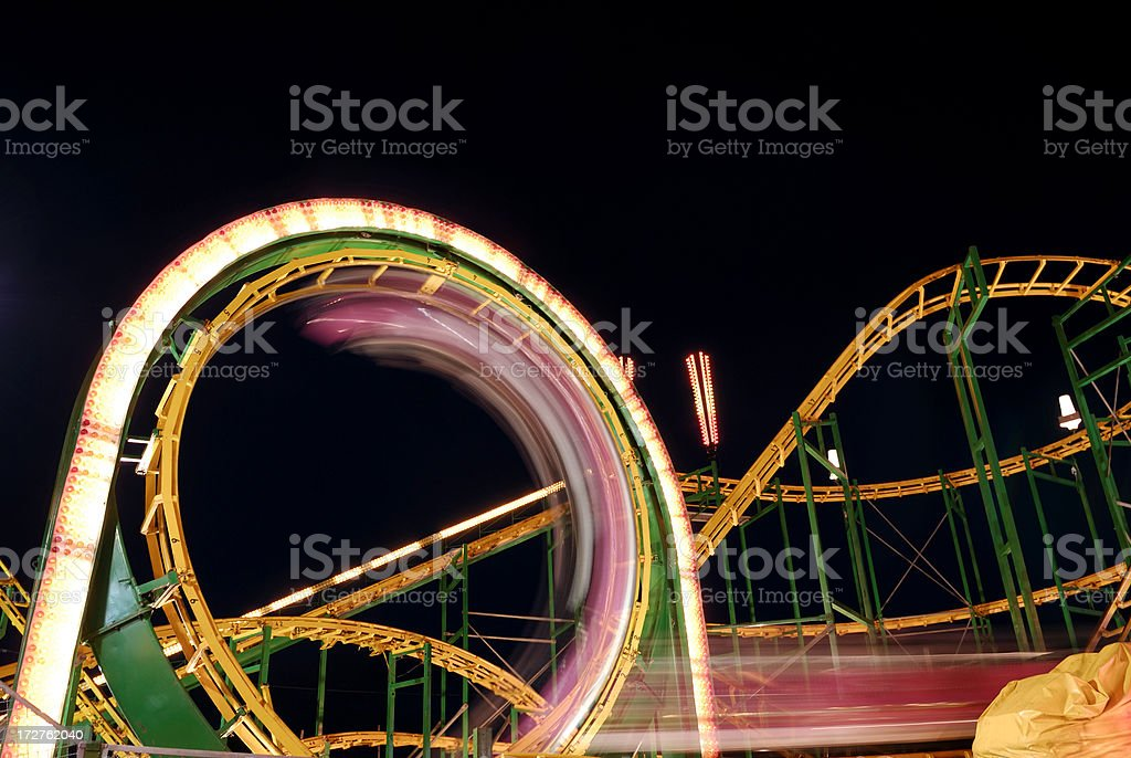 Amusement Park Ride stock photo