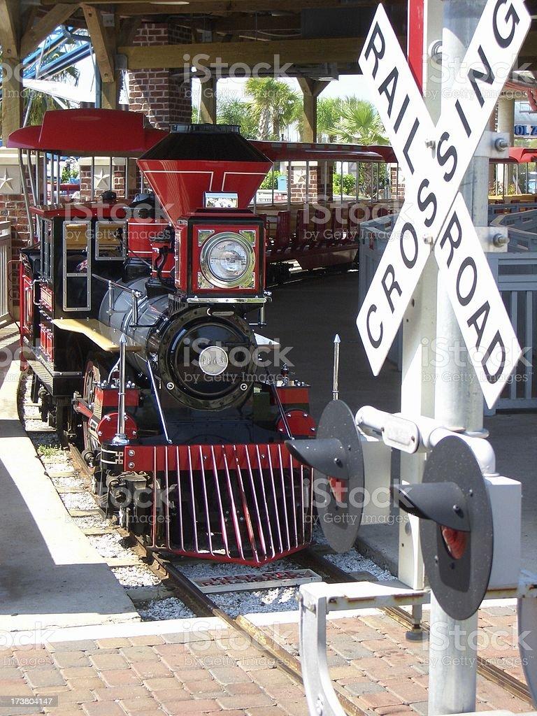 Amusement Park Train stock photo