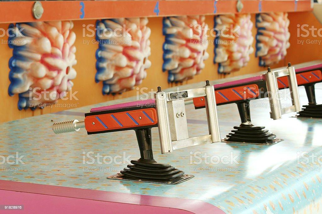 Amusement park water game stock photo