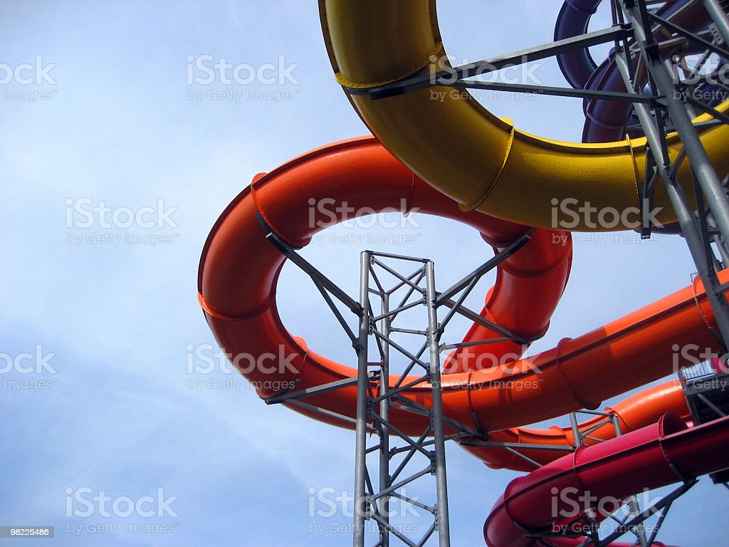 Amusement Park Water Ride royalty-free stock photo