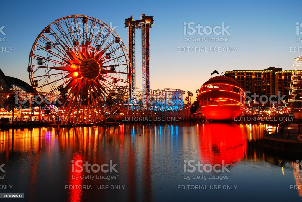 Amusement reflections stock photo