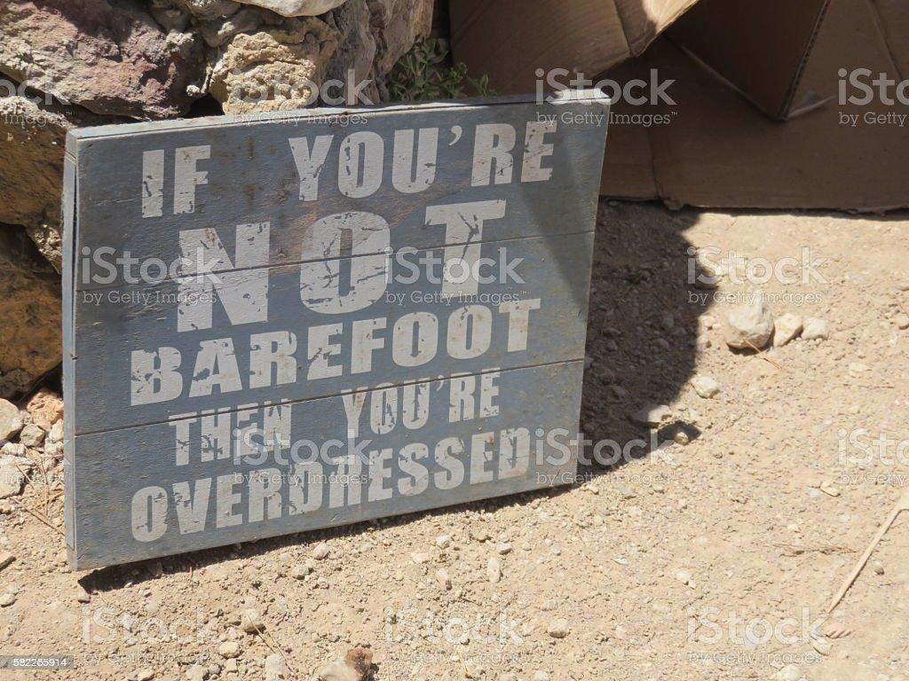amusing Sign in Ibiza Spain stock photo