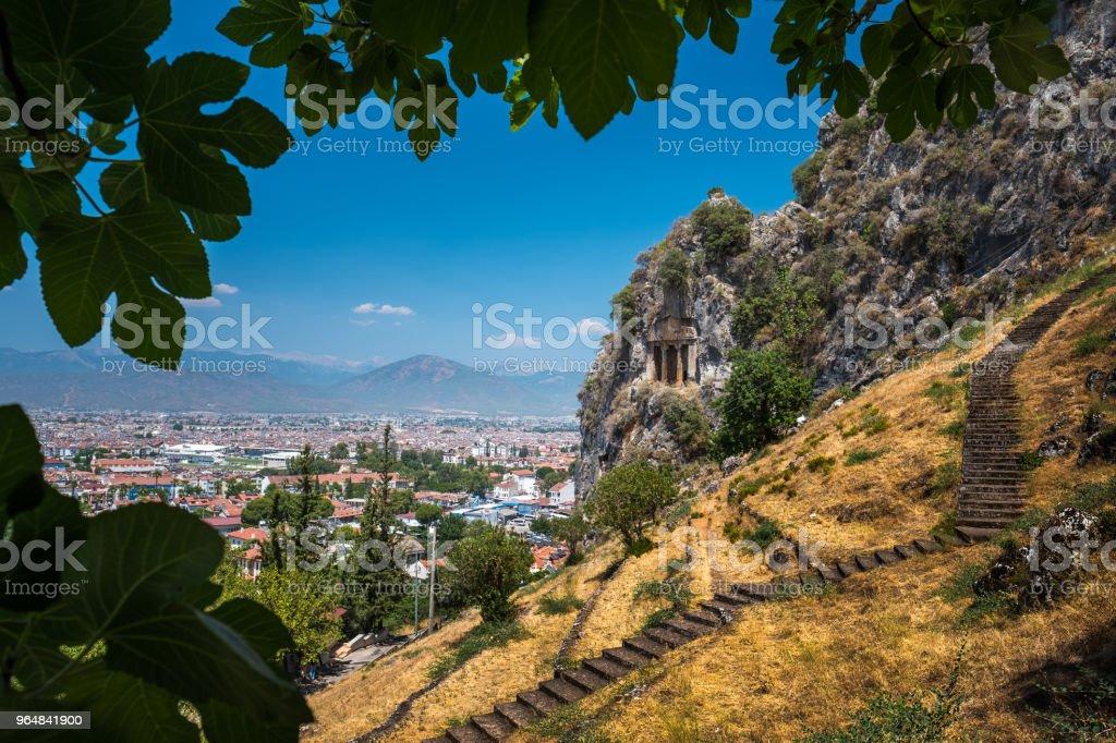 Amyntas rock tombs royalty-free stock photo