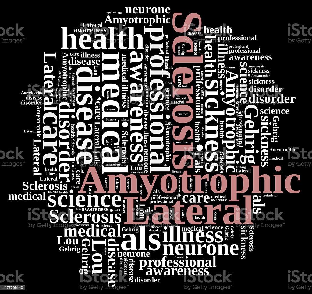 Amyotrophic lateral sclerosis. stok fotoğrafı