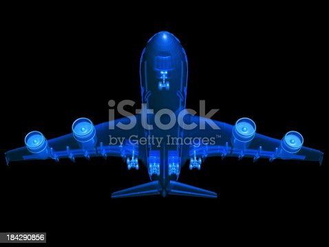 istock An A380 airplane 3D model sketch 184290856